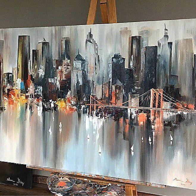 Vaya artista está hecha @sara10_art !!! Impresionante trabajo  Gracias por compartir !  #newyork #nyc #nuevayork #cuadros #pintura #abstracto #bigapple #ny #iloveny #piroanuevayork