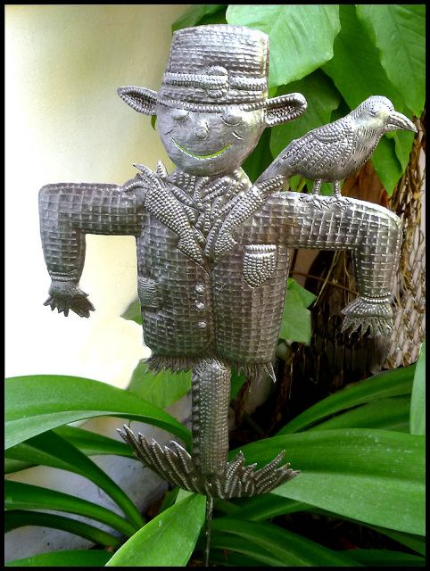 Garden Plant Sticks - Haitian Metal Art, Yard Art, Metal Garden
