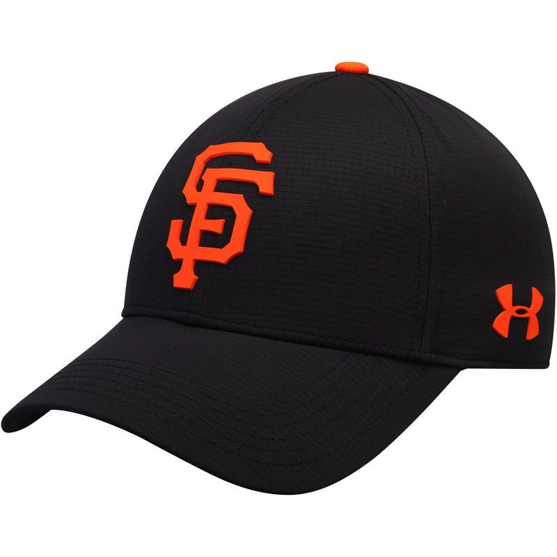 3b7499cd67b San Francisco Giants Under Armour MLB Driver Cap 2.0 Adjustable Hat – Black
