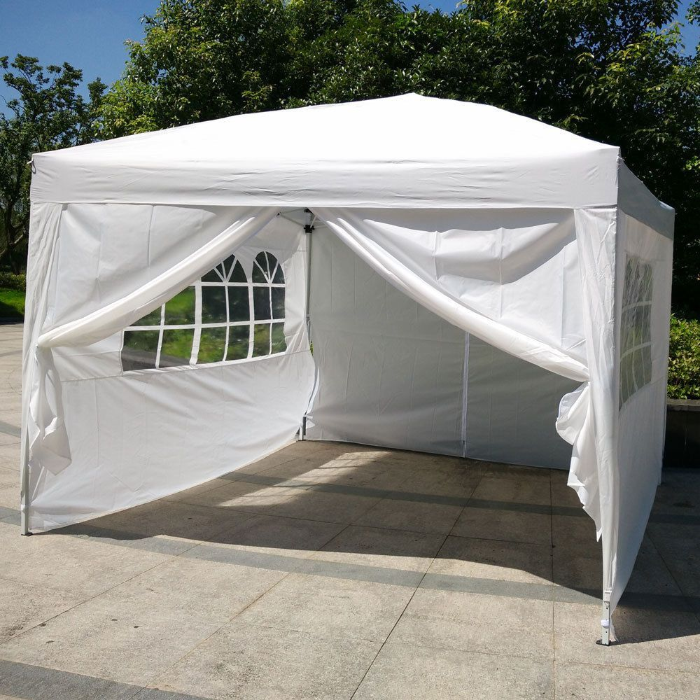 221c47e2da 10'x10'EZ Pop UP Wedding Party Tent Folding Gazebo Canopy W/ SIDES & Carry  Bag 336578914853 | eBay
