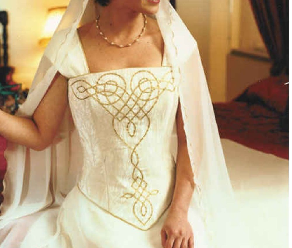 Pin By Christianna On Embroidery Celtic Wedding Dress Scottish Wedding Dresses Wedding Dresses