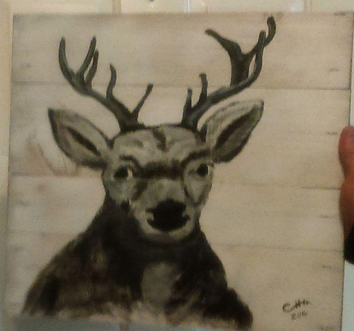 Deer head - Crystal huss - Paintings & Prints Animals Birds & Fish Deer… | ArtPal thumbnail