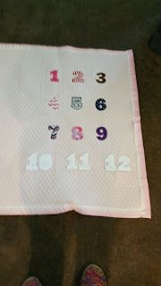 Gammie's Corner: Infant monthly blanket