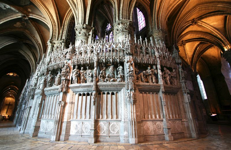 Chartres Chancel Screen Southeast Section Of The Chancel Screen Erected In The 16th Century In A Renaissance Style Http Chartres French Cathedrals Cathedral