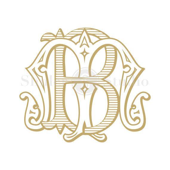 Wedding Monogram Design Bm Mb Wedding Monogram Vintage Etsy In 2020 Monogram Design Monogram Logo Monogram Wedding Invitations