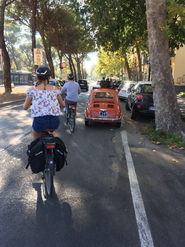 Fiat 500 Out In The Suburbs Of Florence Electric Bike
