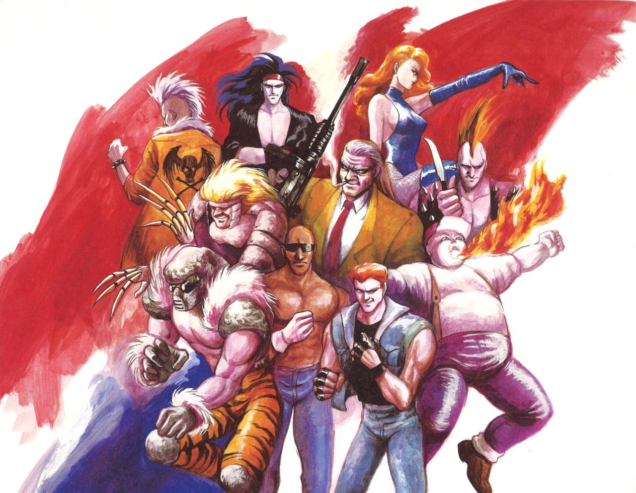 Thevideogameartarchive The Bosses Of Streets Of Rage 2 Courtesy