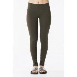 Basic olive leggings