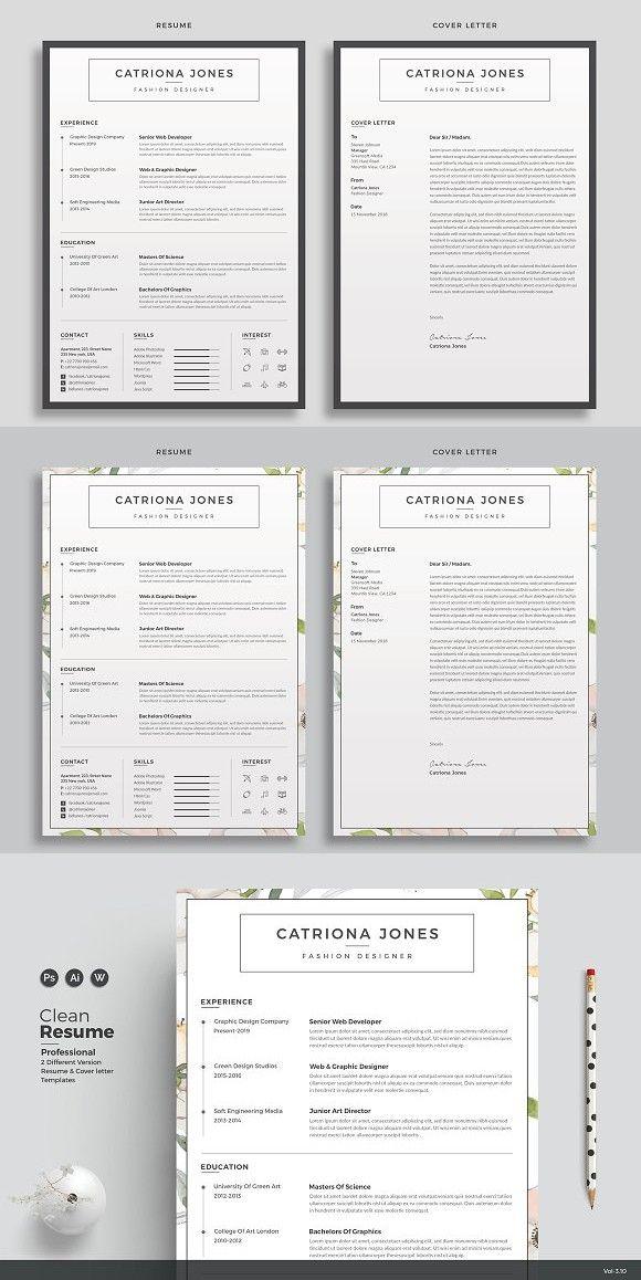 Resume/CV Catriona Stationery Templates Pinterest Resume cv - cv vs resume
