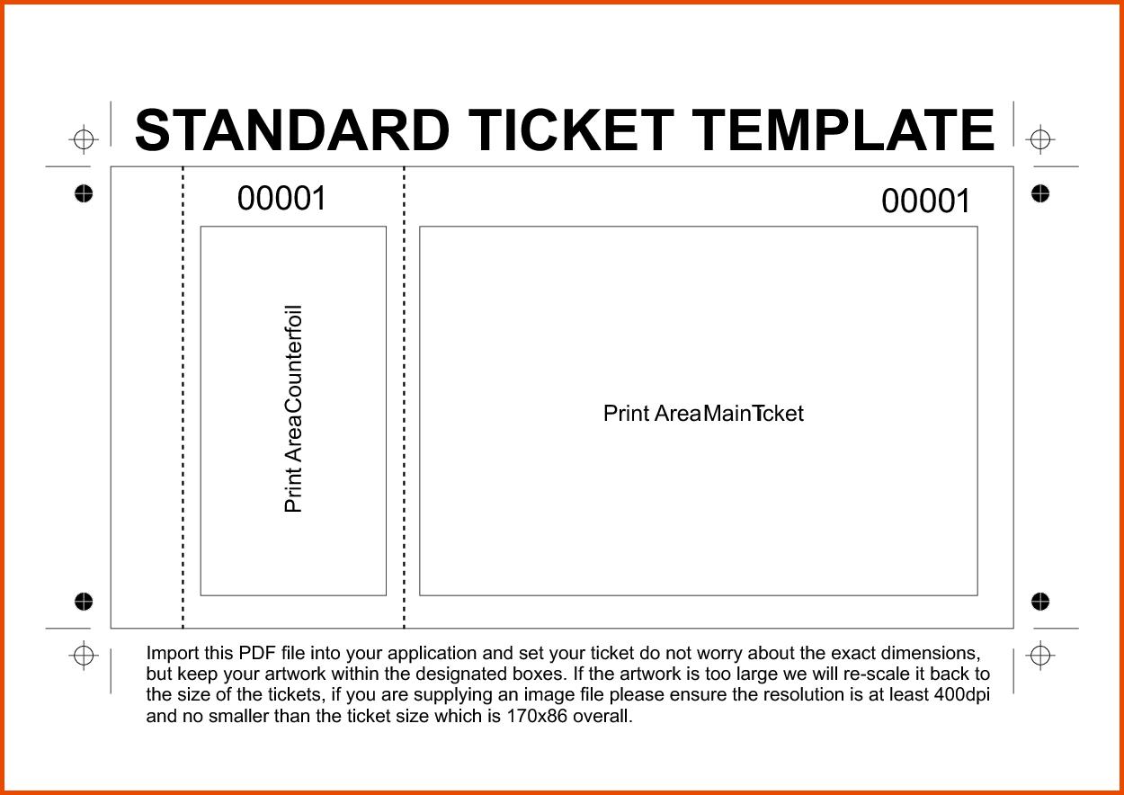 raffle ticket template free printable