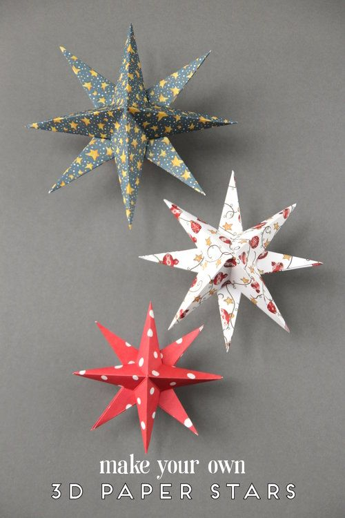 DIY 3D PAPER STAR CHRISTMAS DECORATIONS. — Gathering Beauty