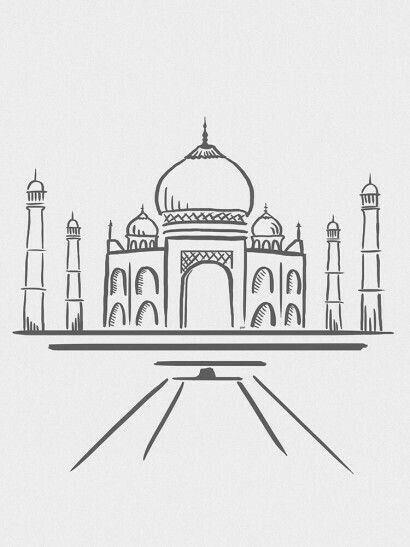 Line Animals Cross Iantha Lines Naicker Ciudad Dibujo Taj Mahal Dibujo Dibujos De Ciudades