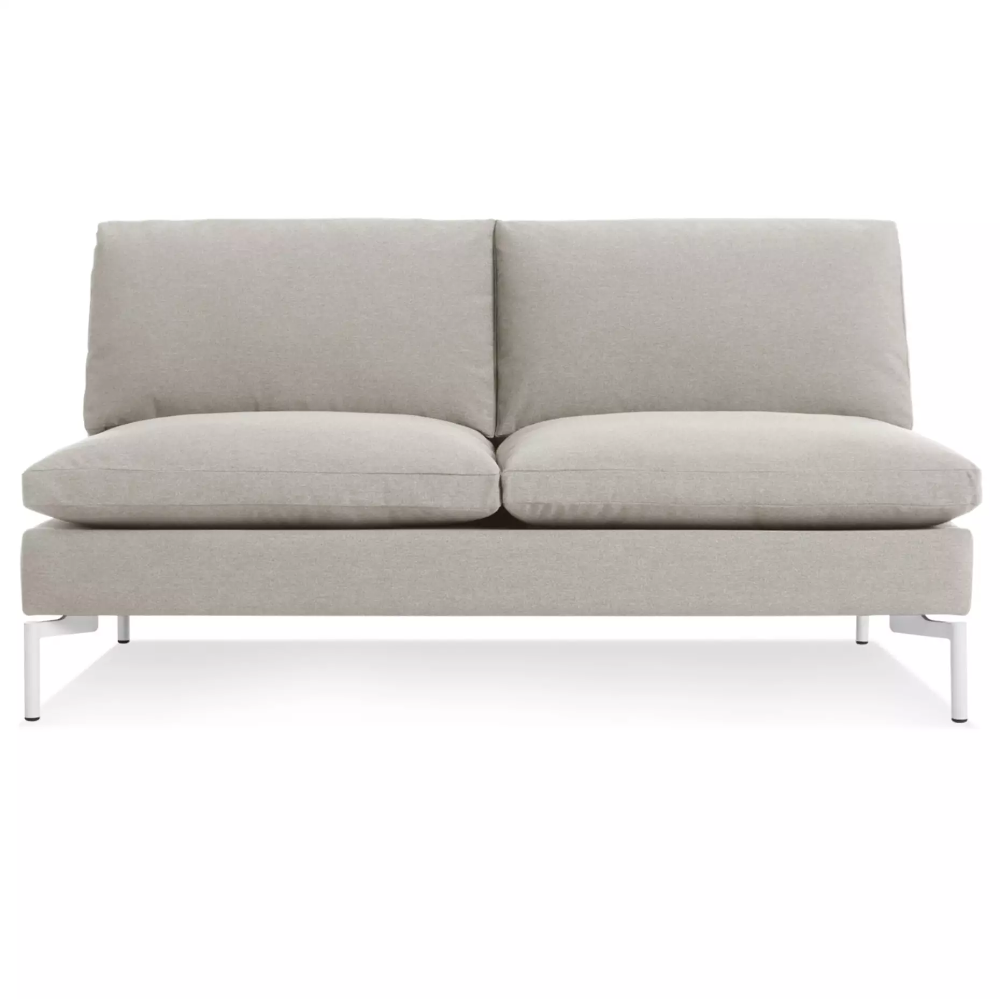 The New Standard Armless Sofa Nixon Blue White Modern Sleeper Sofa Modern Sofa Sofa
