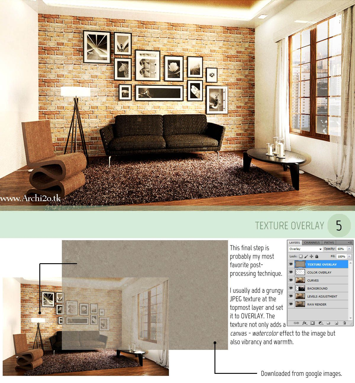 vray for sketchup tutorial part 3 post processing full article at. Black Bedroom Furniture Sets. Home Design Ideas