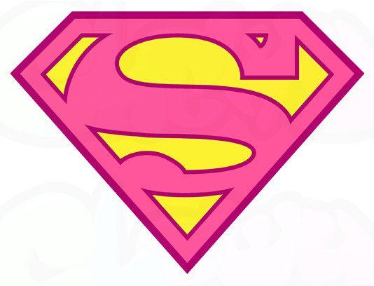 Supergirl logo printable il 570xn 50400 supergirl kids for Superman logo template for cake