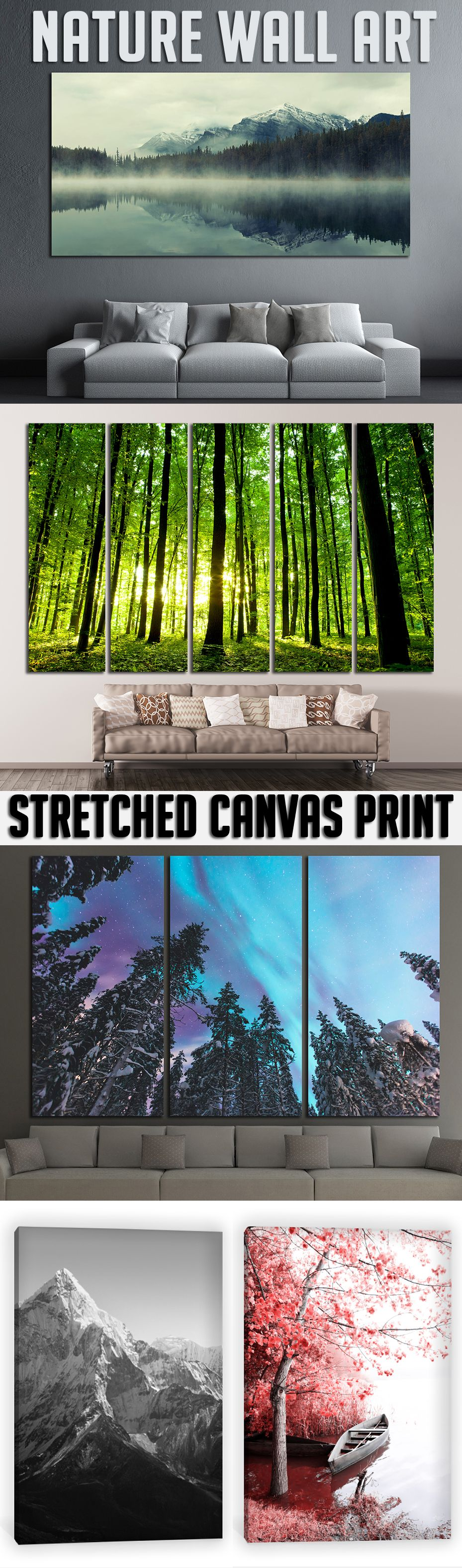Extra large nature wall art for home u office decoration wall