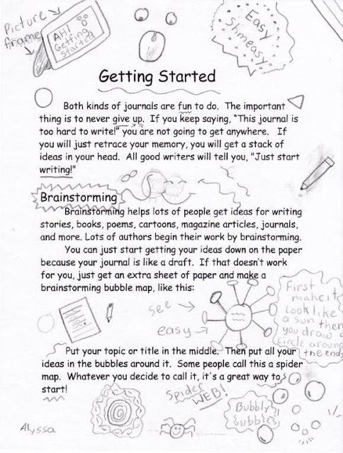 Journals: From a Kid's Point of View Part Two