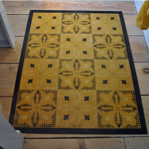 Dsc 9073 The Marston House Antiques Bed Breakfast Oilcloth Rug Love Pattern