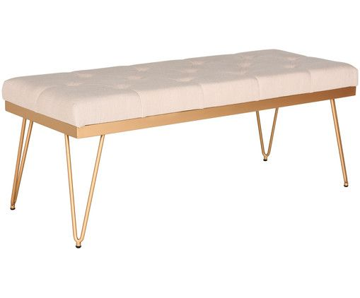 Möbel Shoppen mit sitzbank in gold beige steht dem perfekten dinner nichts