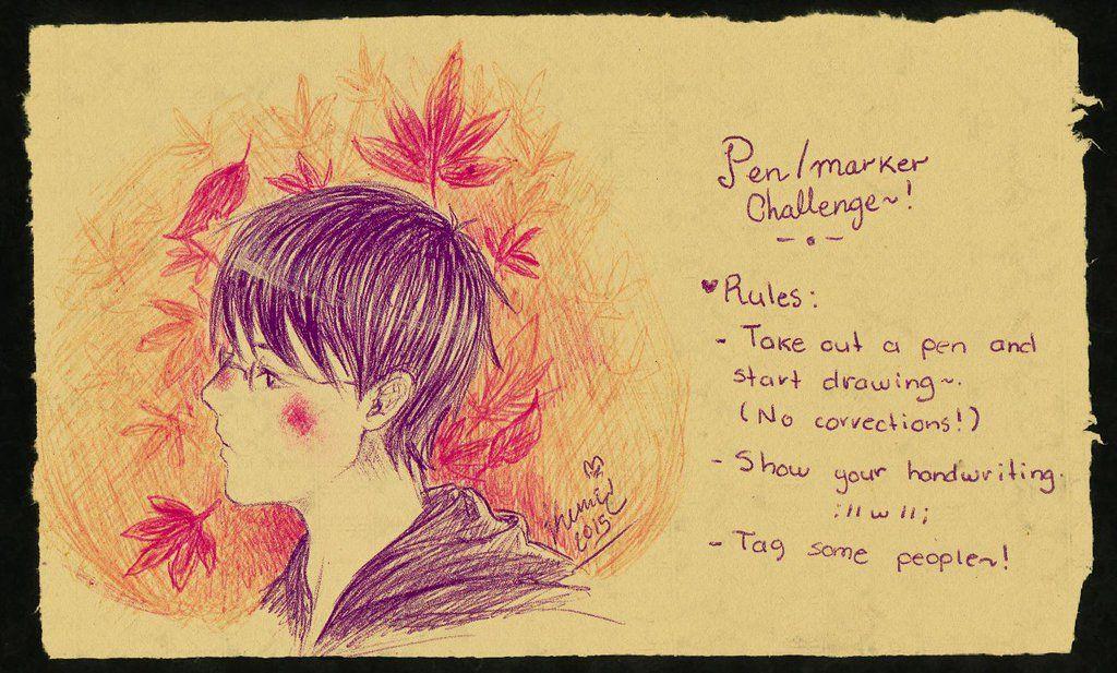 Pen/Marker Challenge - Wataya by Kuri-kuu
