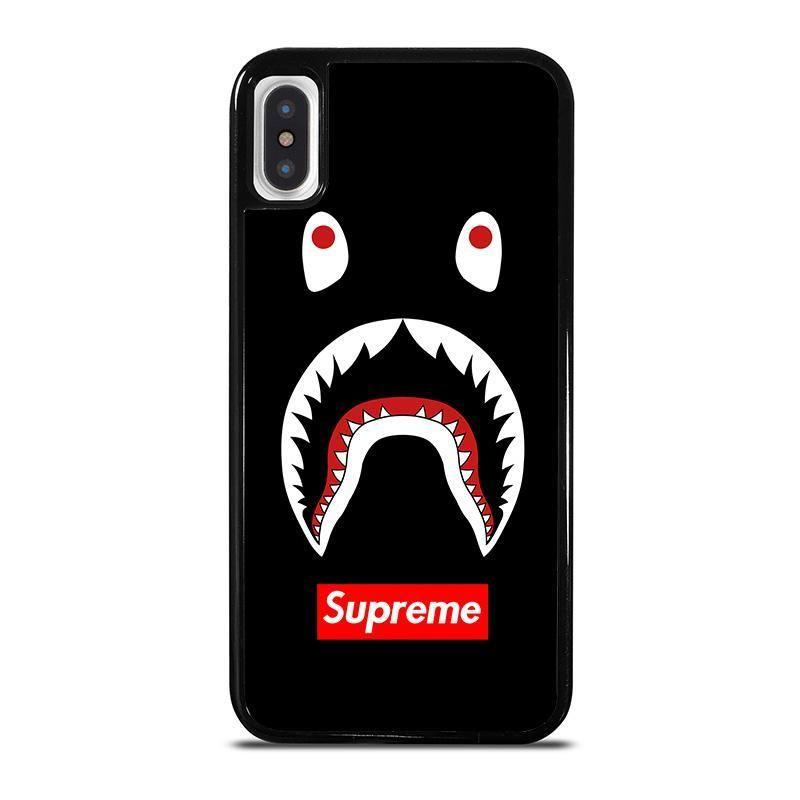 Bape camo shark supreme black iphone x xs case cover