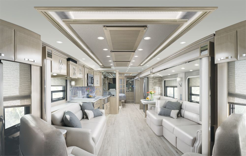 Check Out The Interior Of The Newmar King Air Motorhome Shop
