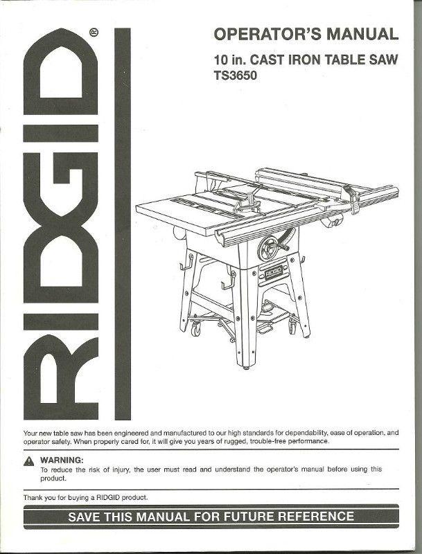 Ts3650 table saw wiring diagram schematic wiring diagram operator s manual ridgid ts3650 10 inch table saw part 983000 402 rh pinterest com table saw switch wiring diagram delta table saw switch wiring diagram keyboard keysfo Choice Image