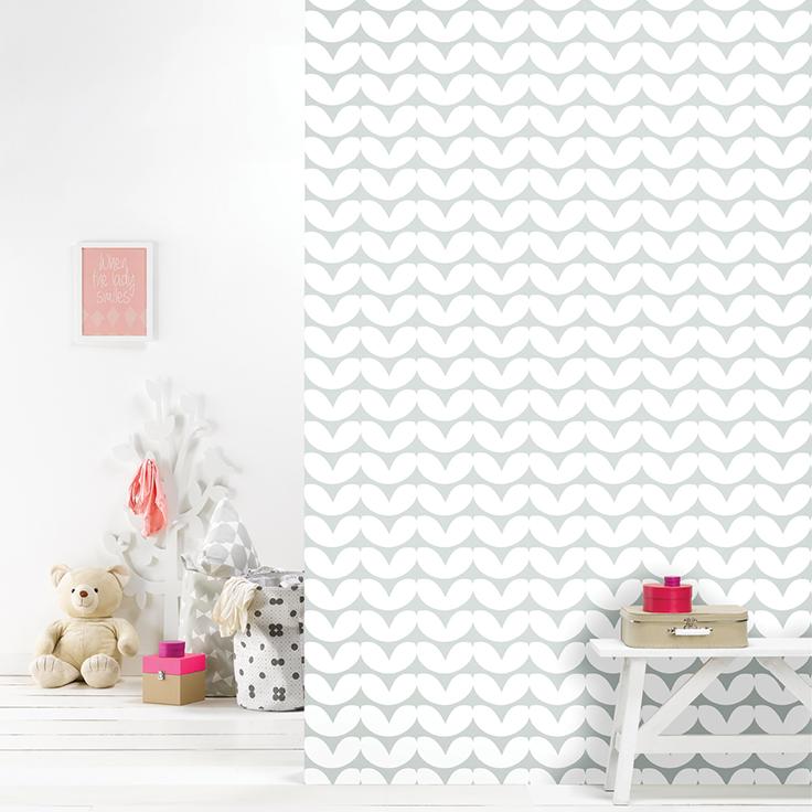 Roomblush behang wallpaper hearts grey behangpapier woonkamer ...