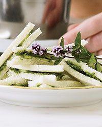 Cucumber-Mint Chutney Tea Sandwiches Recipe on Food & Wine