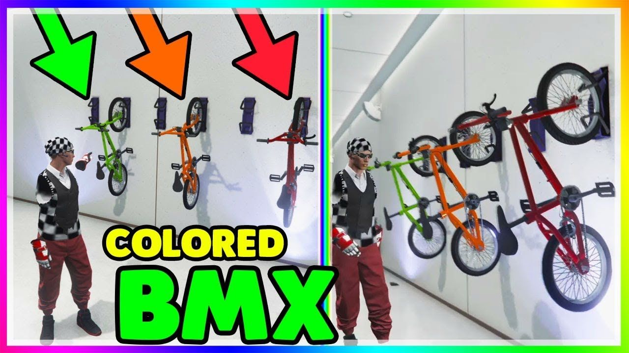 Colored Bmx Bike Glitch Gta Online How To Get Colored Bmx Bikes 1 42 Bmx Bikes Bmx Gta Online