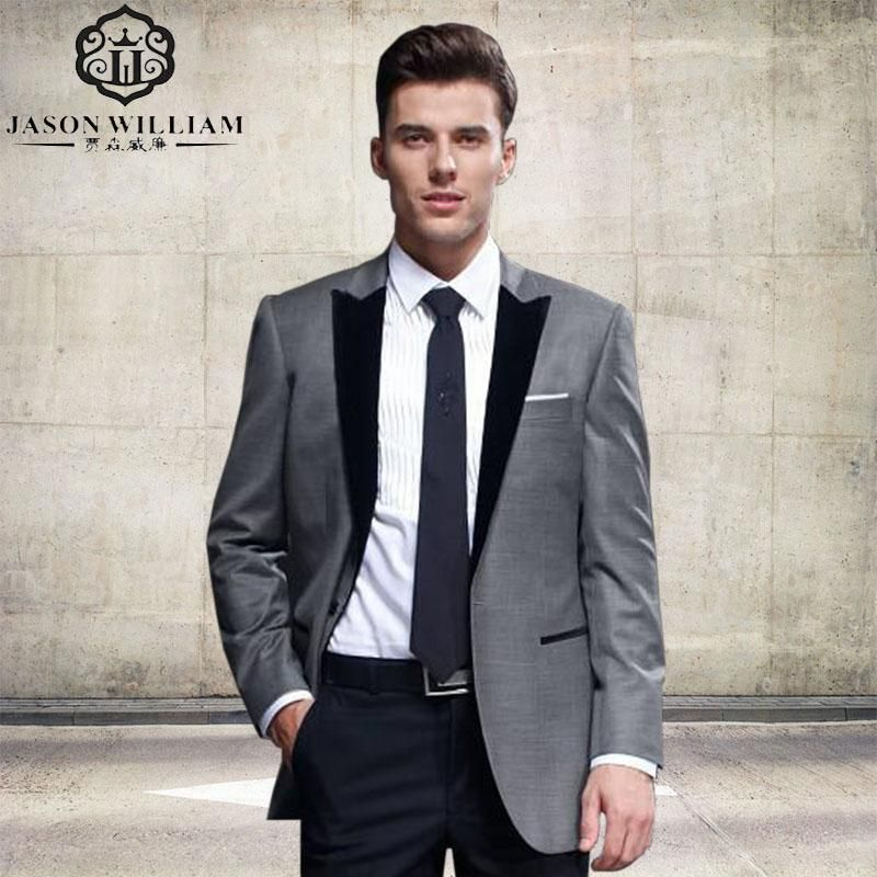 LN134 2017 New Latest Design Mens Suits Groom Tuxedos Groomsmen ...
