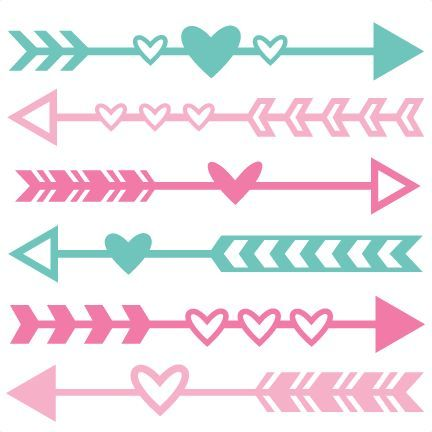 valentine arrow set svg scrapbook cut file cute clipart files for rh pinterest com au free digital scrapbook clipart free printable scrapbook clipart
