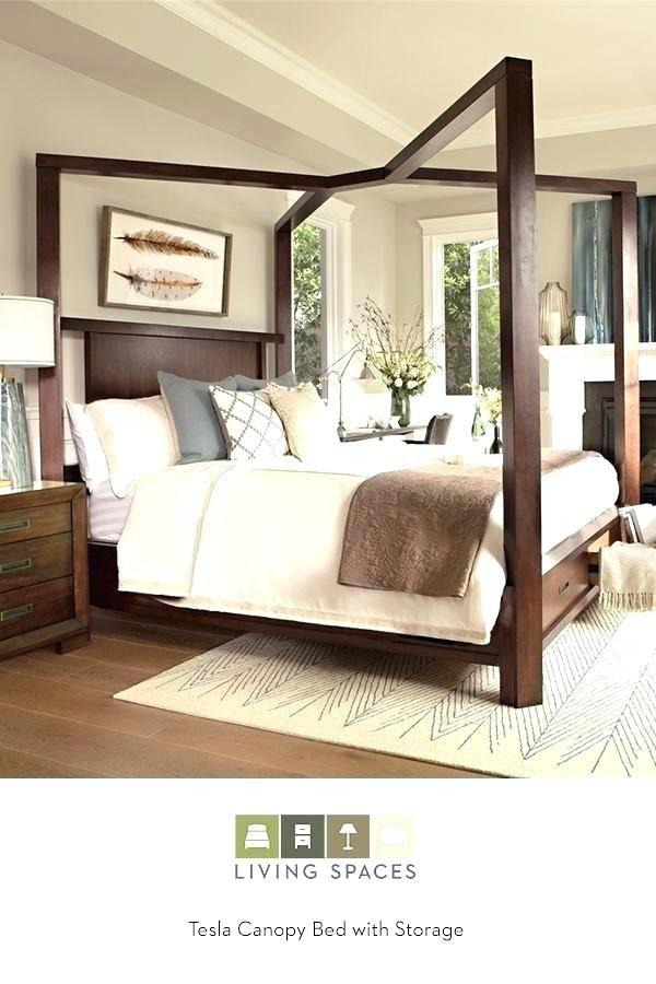 King Size Wooden Canopy Bed Frame Woonideeen Huis Ideeen En Diy Bed