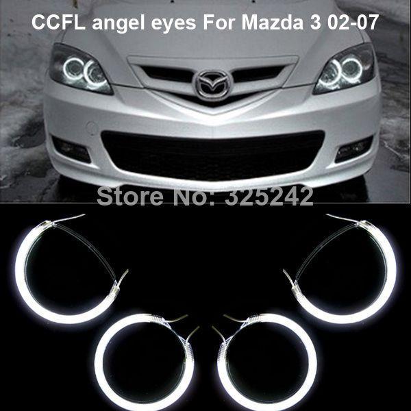 Excellent New Ultra Bright Headlight Illumination Ccfl Angel Eyes Kit For Mazda 3 First Generation 2002 2007 Ccfl Angel Eyes Ki Mazda 3 Hatchback Mazda Mazda 3