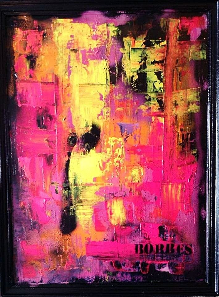 peinture contemporaine acrylique sur bois