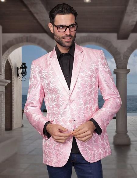 SKU#YY88 Floral Mens Satin Shiny Tuxedo Dinner Jacket Blazer ...
