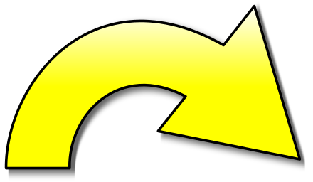 Action Arrow Yellow Right Gradient Color Design Sticker Sign Arrow
