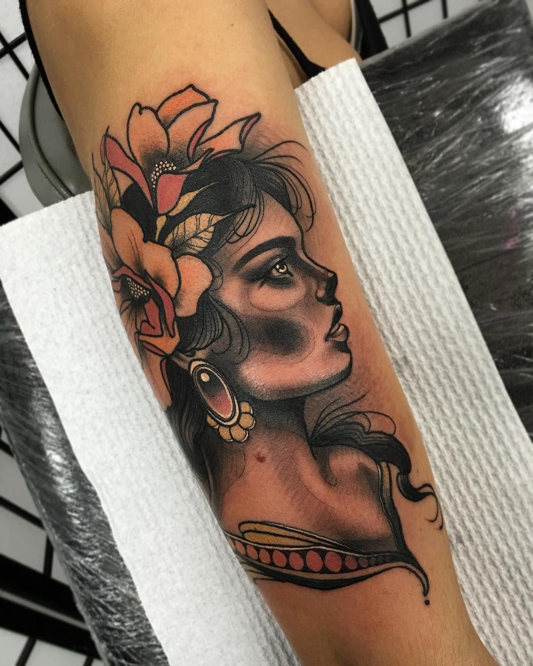 Tattoo @timtavariaTattoo #neo #traditional #realism