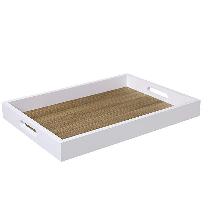 Admirable Decorative Natural Wood Breakfast Serving Tray With Cutout Dailytribune Chair Design For Home Dailytribuneorg