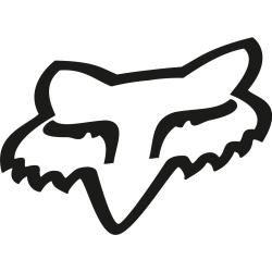 Fox Head Tdc 18 Sticker Schwarz 45 cm Foxfox #clothesdrawing