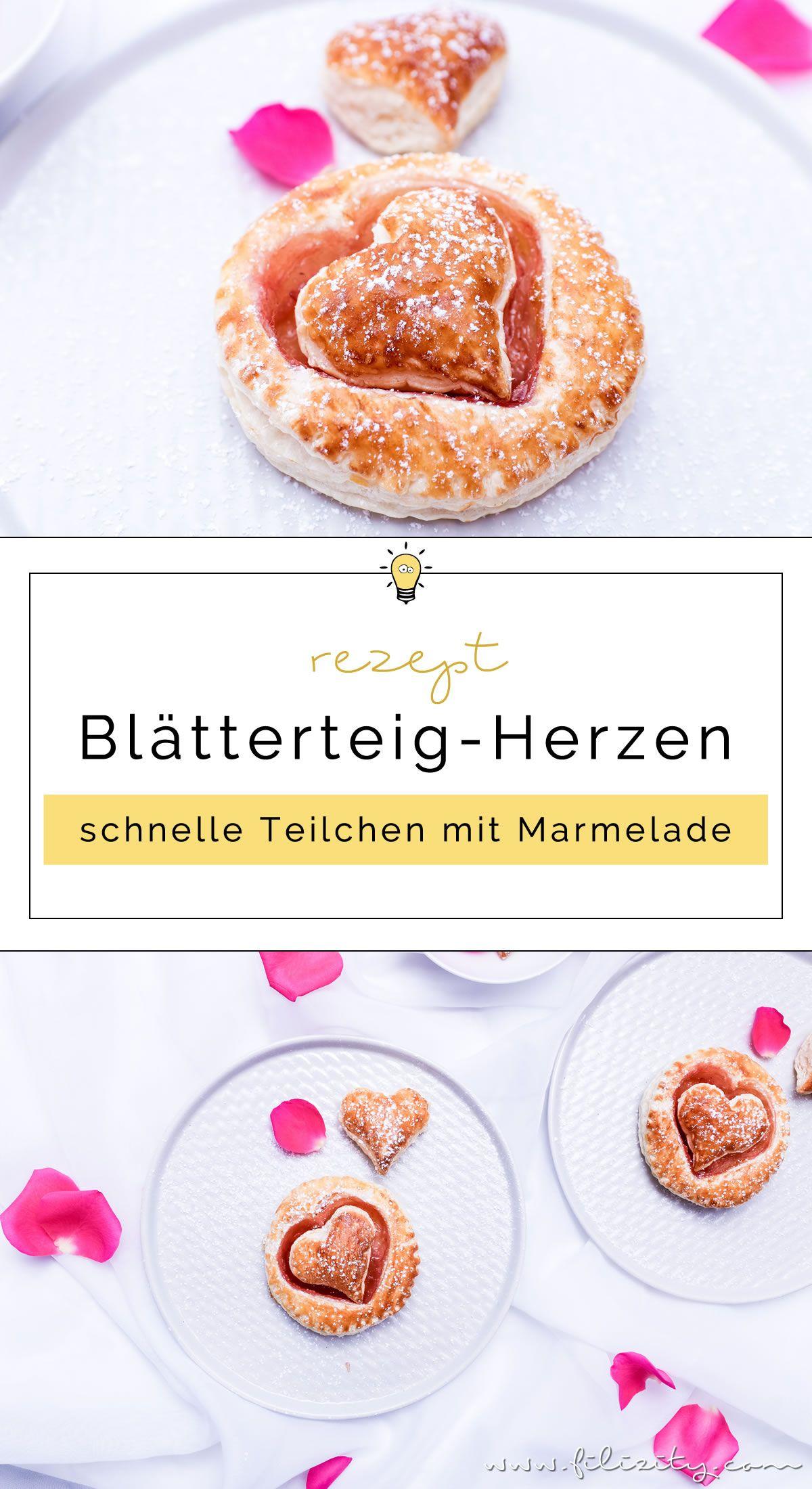 Schnelle Blatterteig Herzen Mit Marmelade Geback Rezepte Teig