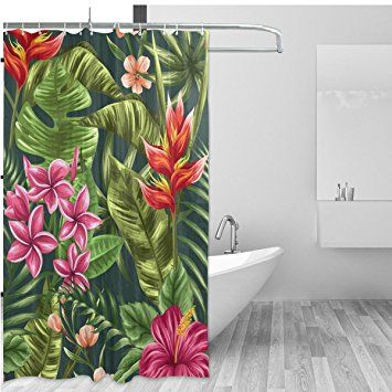 Image Result For Tropical Flower Shower Curtain