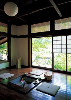 Open Hearth At Gajoen Ryokan 伝統的な日本家屋 アジアの家 伝統