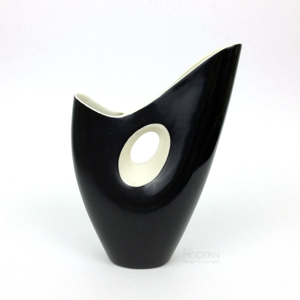 Vintage cmielow style modern black and white double spout ceramic vintage cmielow style modern black and white double spout ceramic vase reviewsmspy