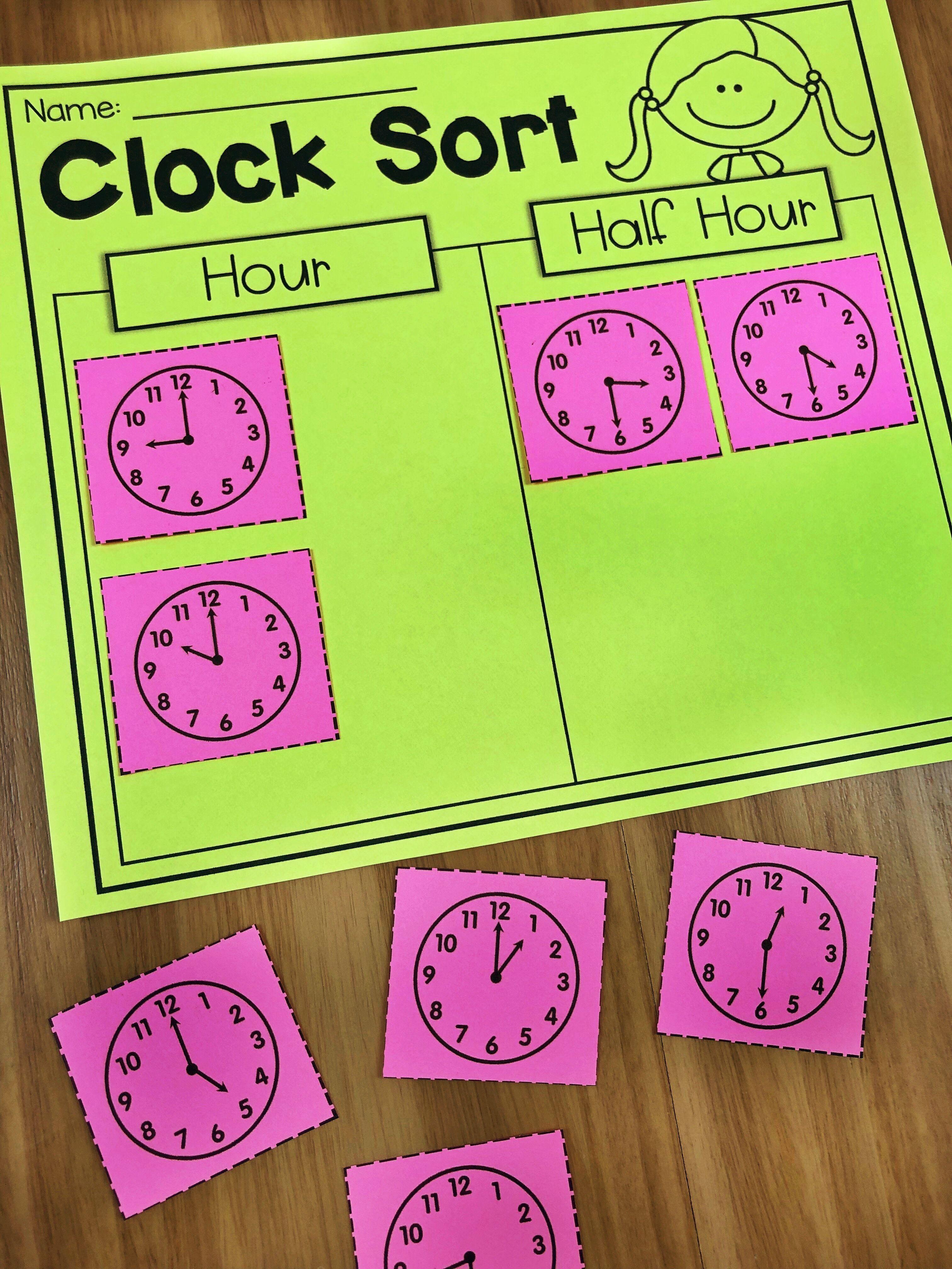 First Grade Time Worksheets Hour Half Hour Amp Quarter
