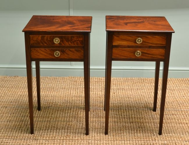 Antique Bedside Cabinets Mahogany Furniture Antique End Tables