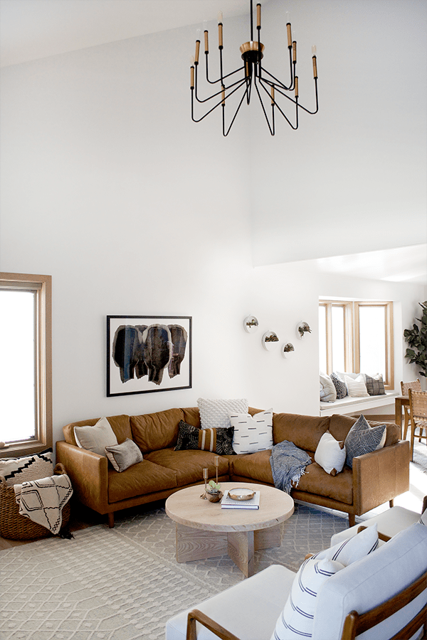 Modern Casual Living And Dining Room One Room Challenge Reveal