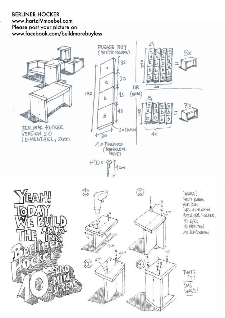 Berliner Hocker the most awesome images on the diy furniture diy