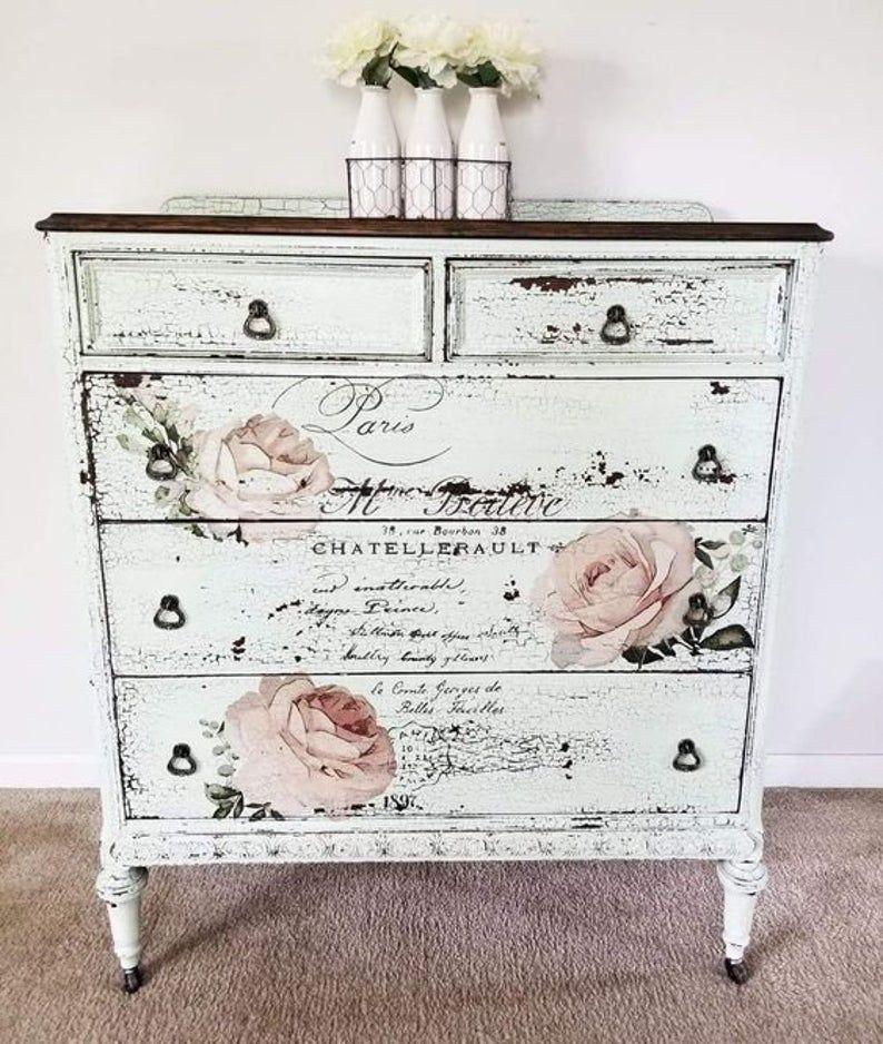 Chatellerault Transfer 27 5 X 30 5 Prima Etsy Shabby Chic Dresser Shabby Chic Decor Furniture Projects