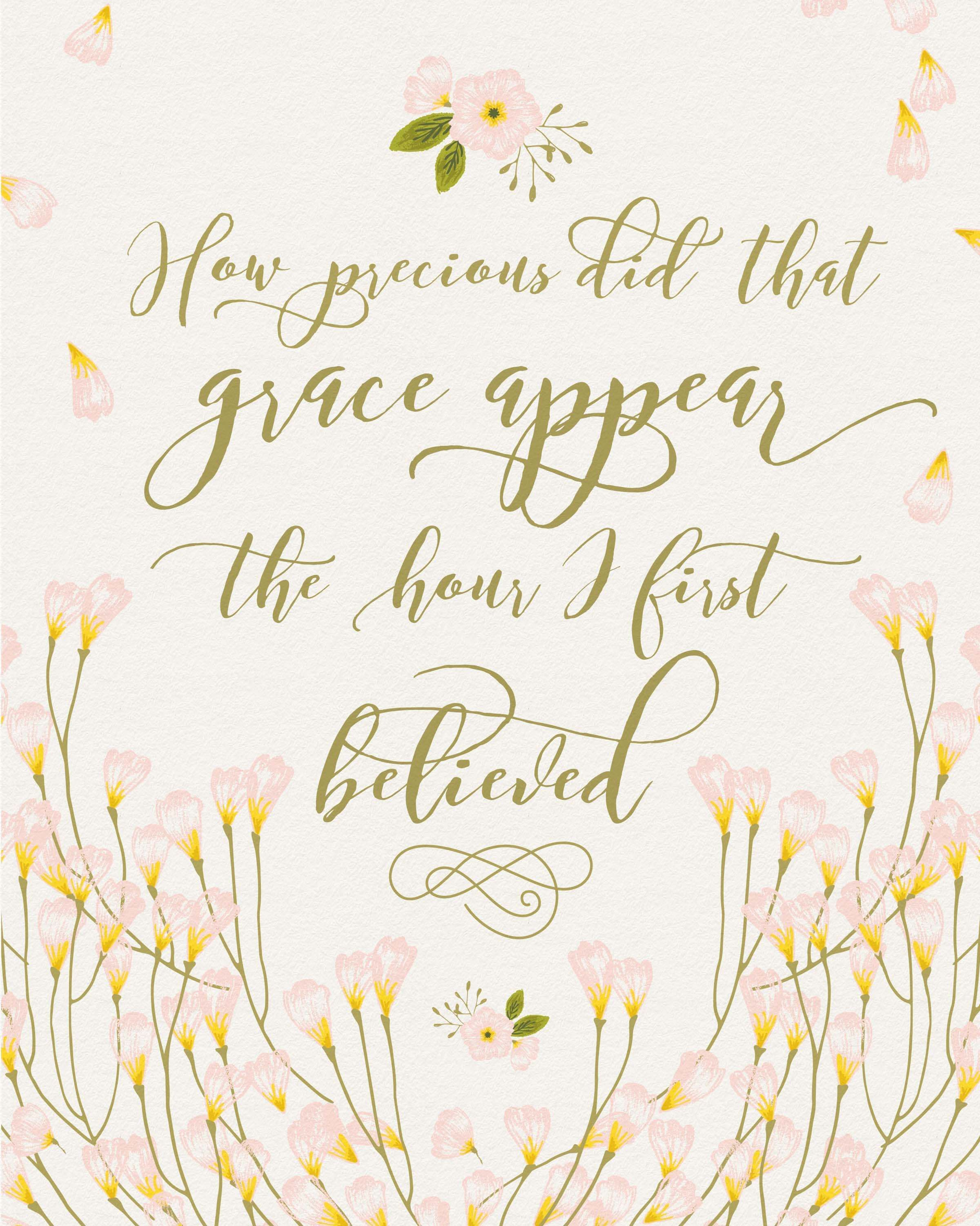 Free Amazing Grace Printable With Images